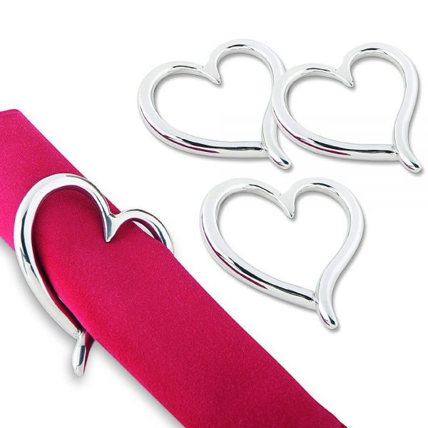Amore Set of 4 Napkin Rings