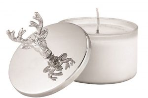 Stag Candle and Lid Snuffer